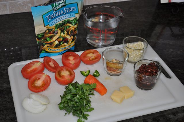 BlendTec Tortilla Soup - The Ingredients