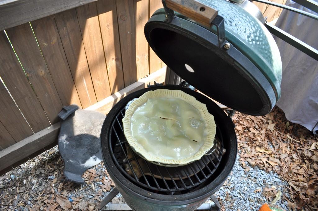 Rhubarb Pie - Before