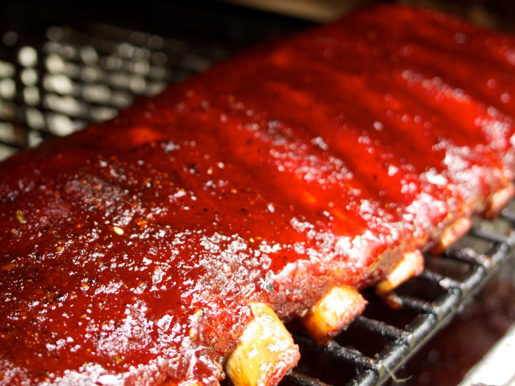 We liked the looks of our ribs at Palmyra, wishing the judges would have like the flavor!
