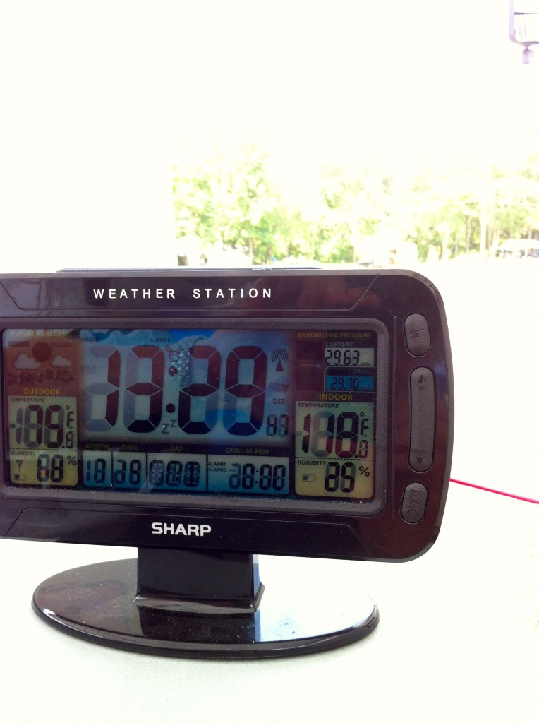 Look closely, yep, that says 118 Degrees!